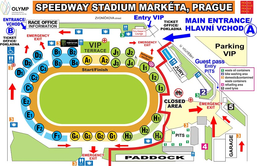 Plánek Stadionu